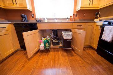 under sink slide out trash can for the home pinterest. Black Bedroom Furniture Sets. Home Design Ideas