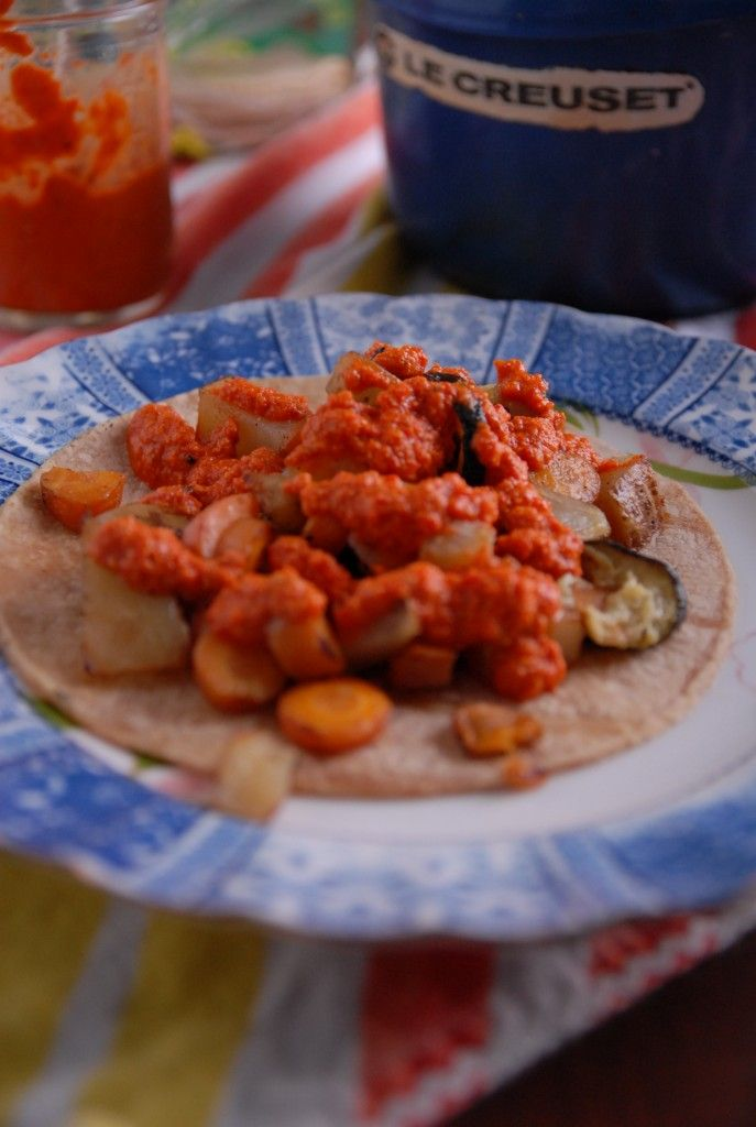 Jalapeno Roasted Red Pepper Salsa + Simple Zucchini Tacos   Recipe
