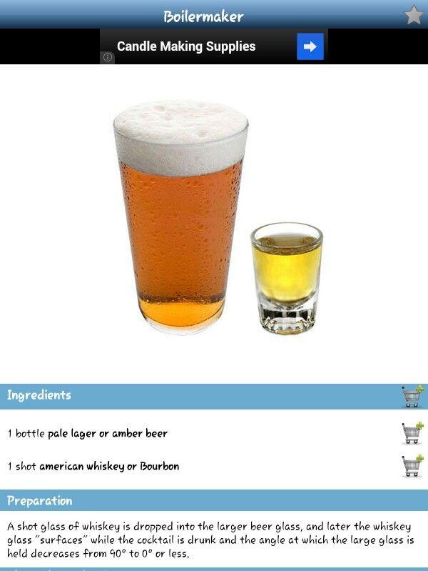 Boilermaker Mix Drink
