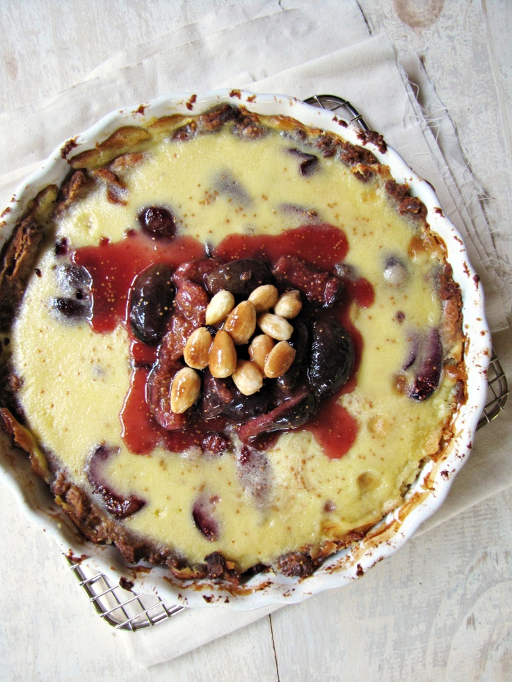 Fig and Almond Custard Tart