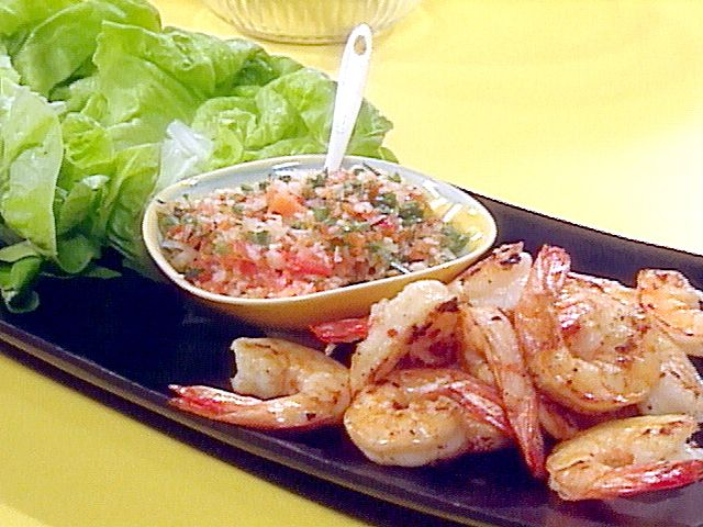 Grilled Jumbo Shrimp and Pickled Gazpacho Roll-ups from FoodNetwork ...