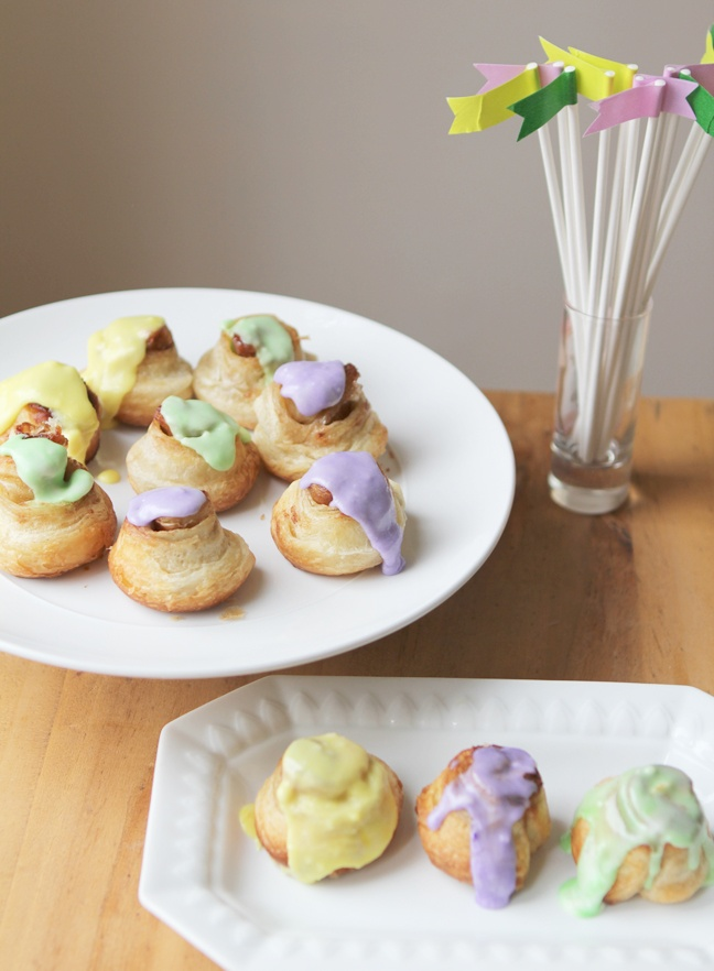 super quick & easy mini king cakes | party/holiday | Pinterest