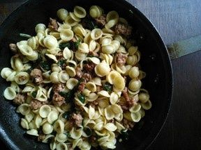 Orecchiette with spicy sausage and ramps | Healthy Habits | Pinterest