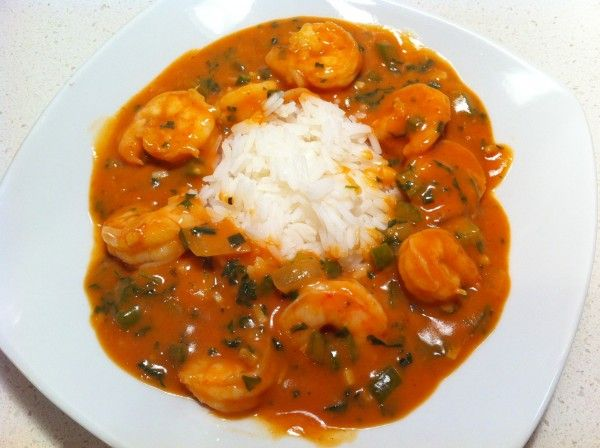 want shrimp for dinner and he found this amazing Shrimp Etouffee ...