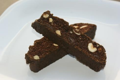 Gluten Free Chocolate Chunk Hazelnut Biscotti