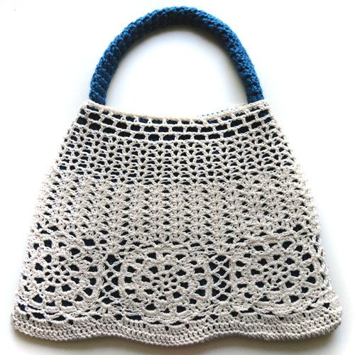 Crochet Bag Pattern Pdf : Double Layer Lace Bag PDF Crochet Pattern by CrochetSpotPatterns, $4 ...