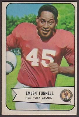 1954 Bowman Emlen Tunnell 102 New York Giants | eBay