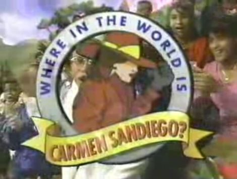 Where in the world is carmen sandiego blasts from the past pinte