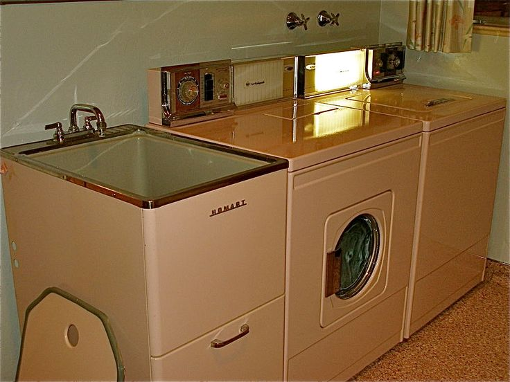 ... original matching set of pink washer, pink dryer and pink utility sink