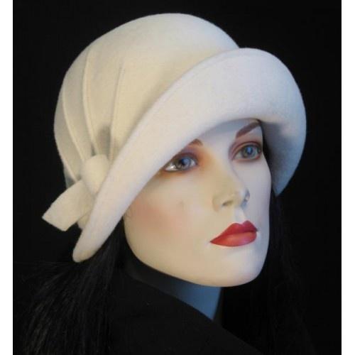 Vintage white cloche hat