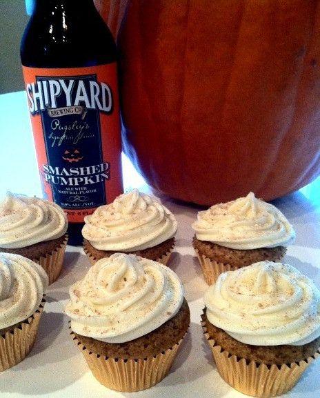 Smashed Pumpkin Ale Cupcakes | Just Desserts | Pinterest