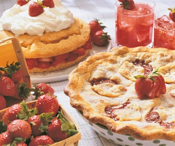 ... Rhubarb Pie, Ruth Ann's Shortcake, and Sparkling Strawberry Punch