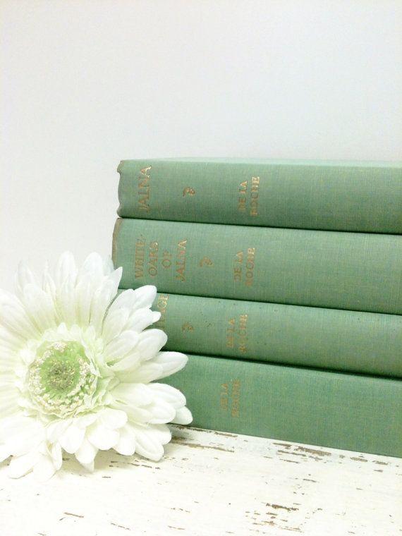 Mint Green Books, Hemlock Books,DE LA ROCHE , by beachbabyblues on Etsy, $82.00