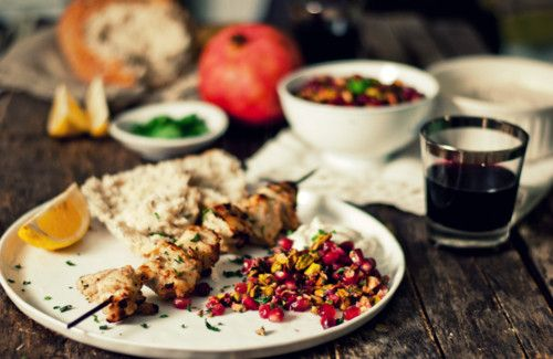 Chicken Kebabs With Pomegranate-Spice Marinade Recipe — Dishmaps