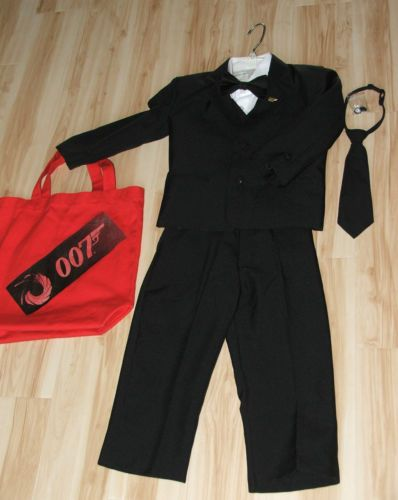 James bond 007 agent spy tuxedo suit halloween costume boys size 4t - James bond costume ...