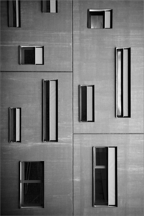 *architecture, facades, windows, grey, concrete* - emmanuel miclo