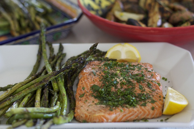 Roasted Salmon with butter and Herbs- by Krystaslifeinfood.com