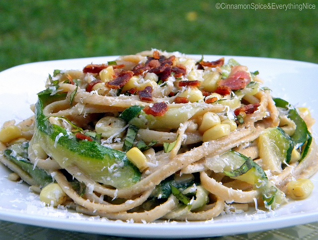... and Linguine with Bacon Corn Pesto by ~CinnamonGirl, via Flickr