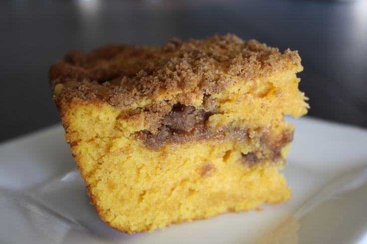 Pumpkin sour cream coffee cake | Mmmm...Dessert | Pinterest