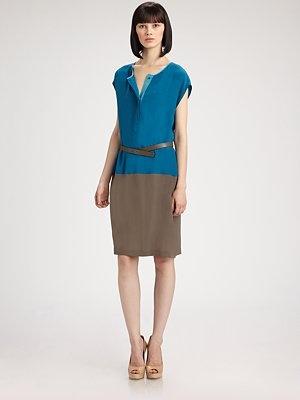 Colorblockk Dress by Akris #Dress #Akris