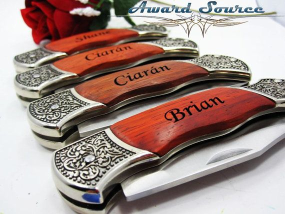 Best Man Wedding Gift Custom Engraved Pocket Knife by KnifePro, USD18.99