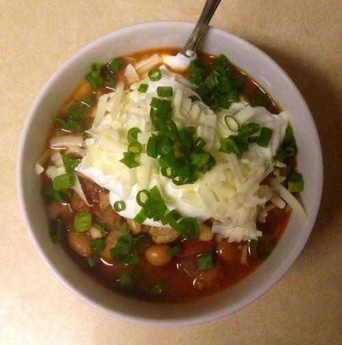 Three Bean Chipotle Turkey Chili | fatty. | Pinterest