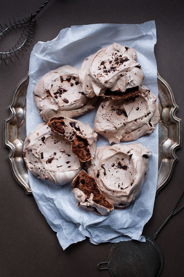 Chocolate Pavlova _ In my search for lighter dessert options, I made ...