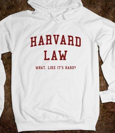 Harvard Law Just Kidding Hoodie Hooded Sweatshirt   Crowne Apparel