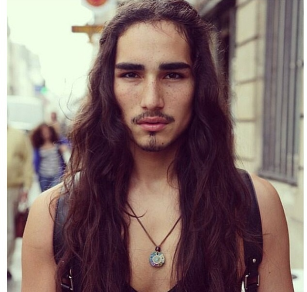 Long Haired Boys Homme Pinterest