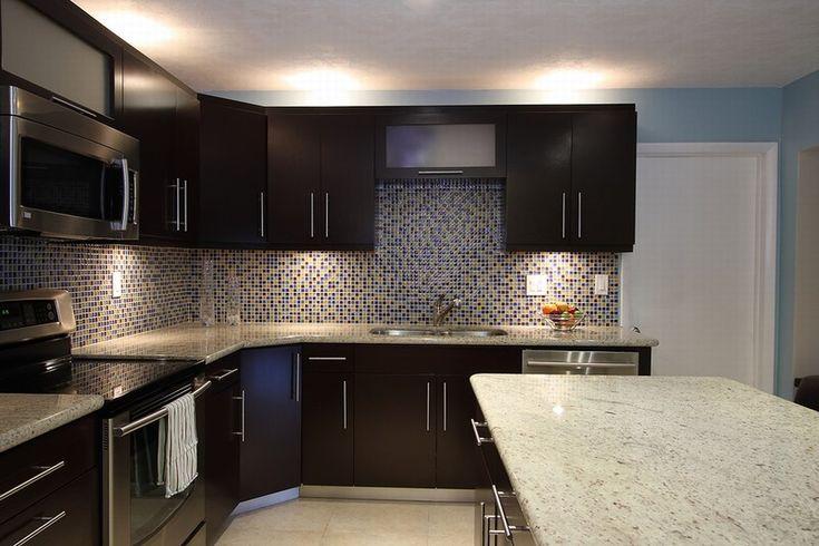 Pinterest for Dark cabinets light granite