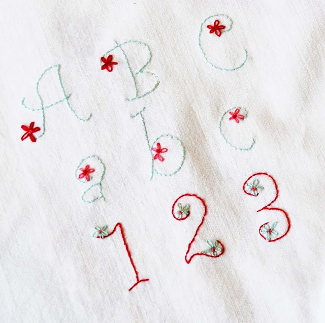 Hand embroidered alphabets alphabet lettering pinterest for Embroidered alphabet letters