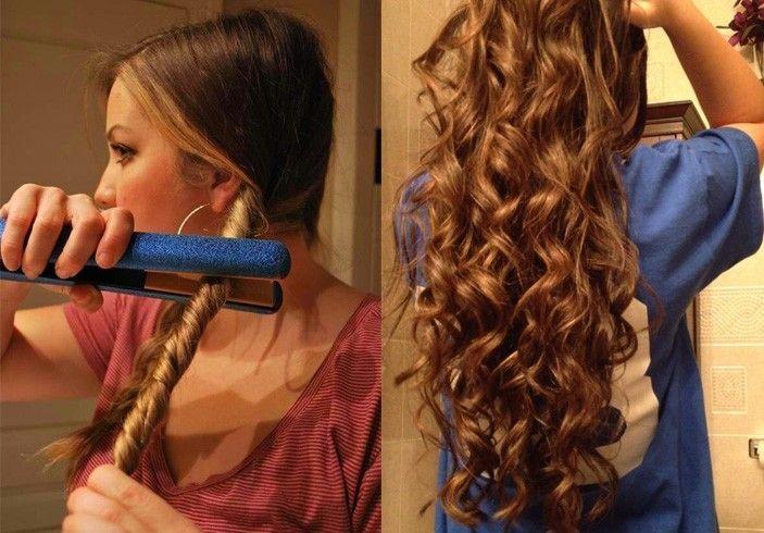 Как сделать локоны утюжком для длинных волос