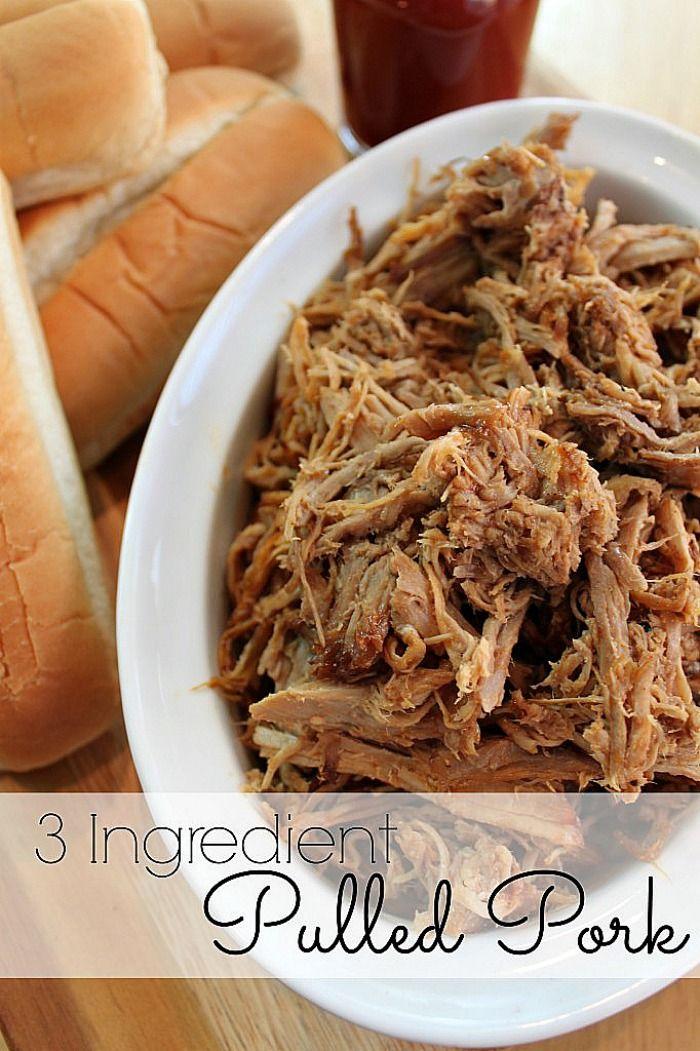 Delicious 3 Ingredient Pulled Pork {The Love Nerds} #porkrecipe # ...