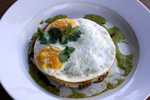 dishing up delights: This is an interesting take on [huevos rancheros ...