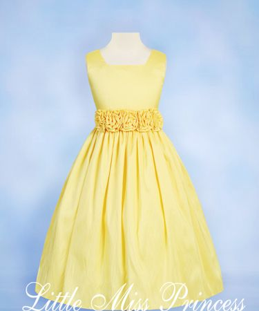 Yellow Springtime Flower Girl Dresses 121