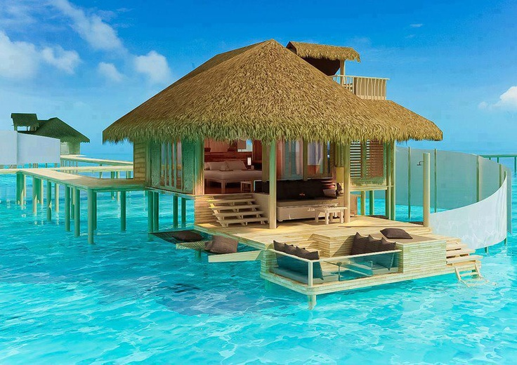 Over water bungalow places to go pinterest Overwater bungalows fiji
