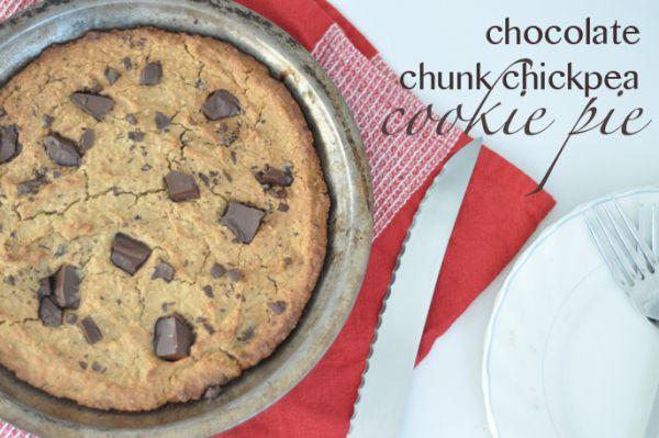 choc chunk chickpea cookie pie   Yum   Pinterest