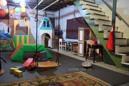 unfinished basement playroom house and home pinterest