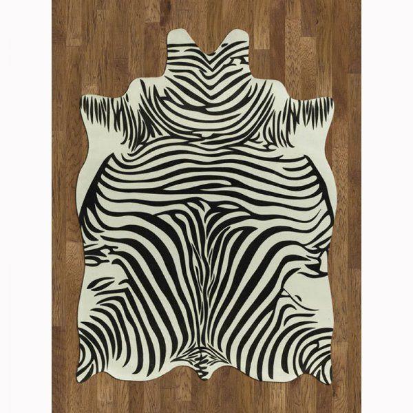 Zebra Rug Faux: Faux Zebra Skin Rug