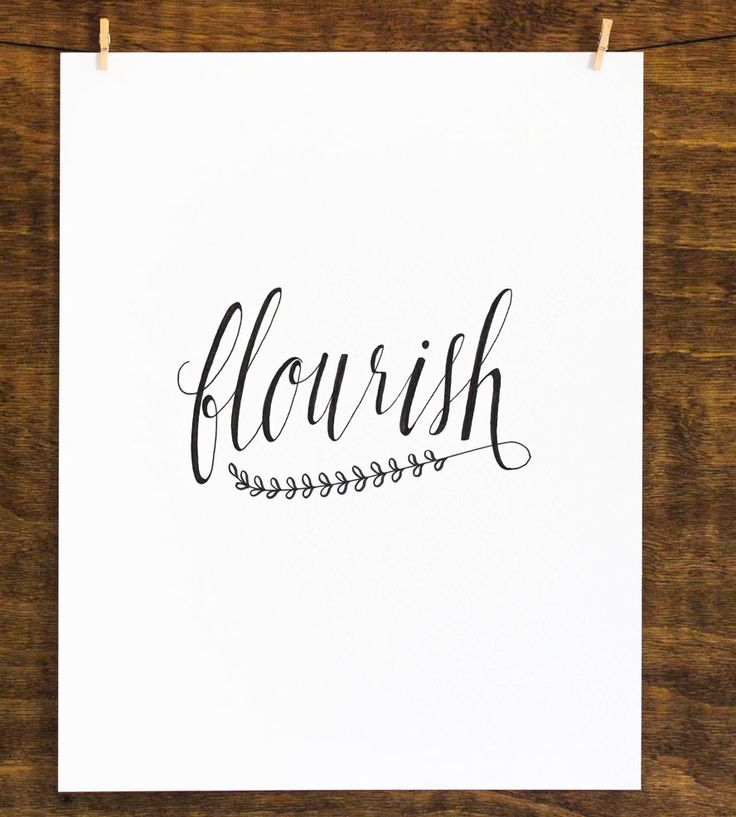 Flourish Original Calligraphy Type Pinterest