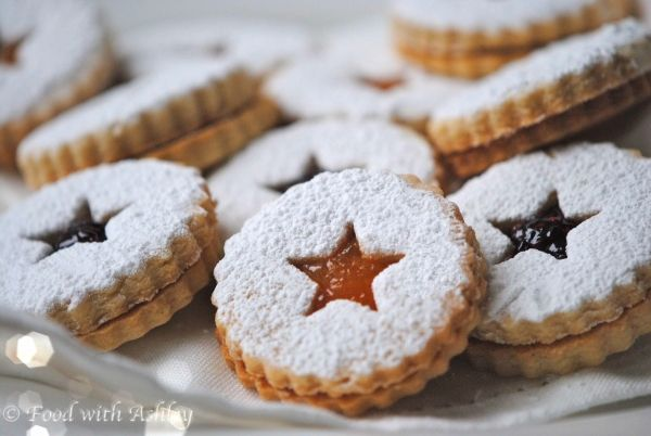 Apricot & Raspberry Linzer Cookies | FOOD WITH ASHLEY | Pinterest