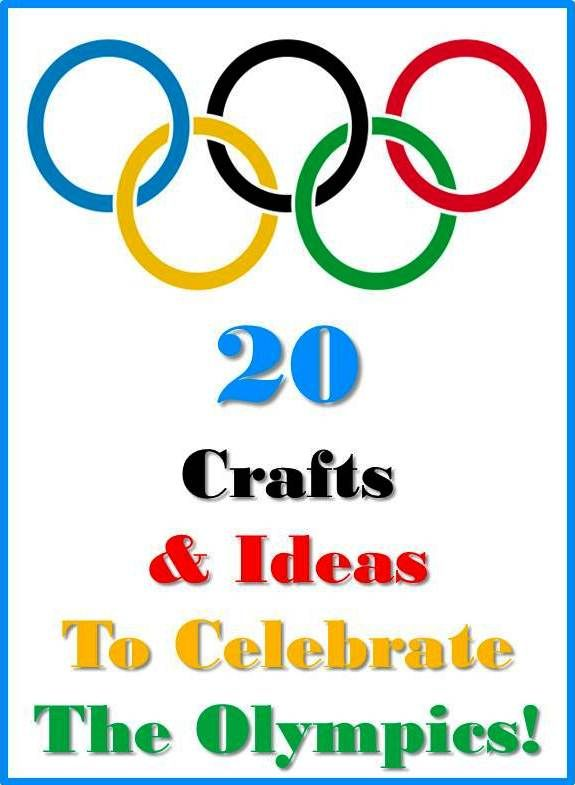 {20 Olympics crafts & activities to inspire} Wonderful collection!