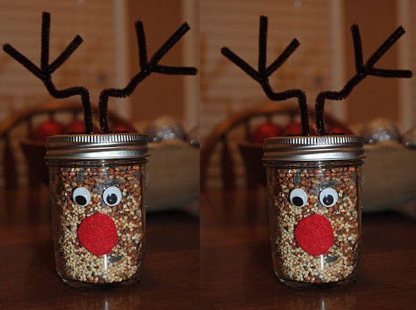 Reindeer mason jars:) | CHRISTMAS | Pinterest