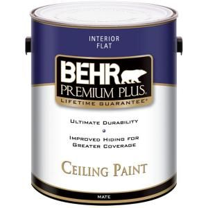 Behr Premium Plus Paint 1 Gal Flat Interior Ceiling Paint 55801