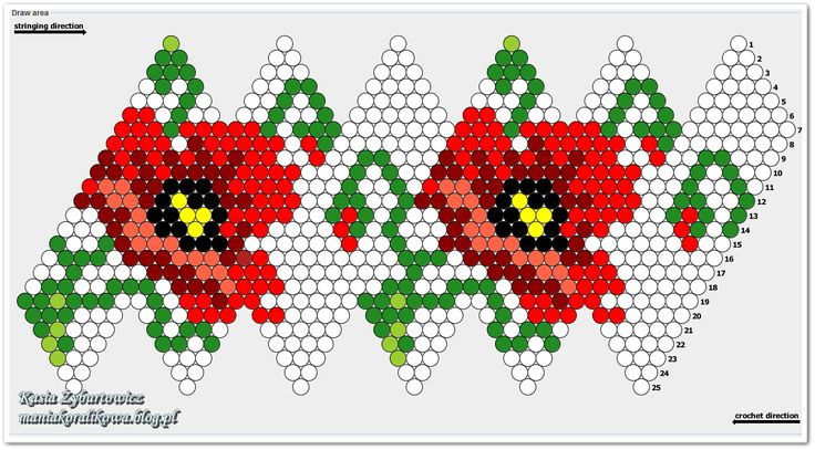 Схемы вязания бусин из бисера 68
