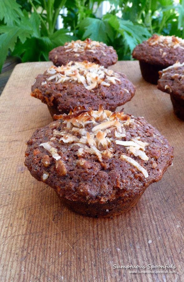 Morning Glory Muffins ~ Sumptuous Spoonfuls #healthy #muffin #recipe