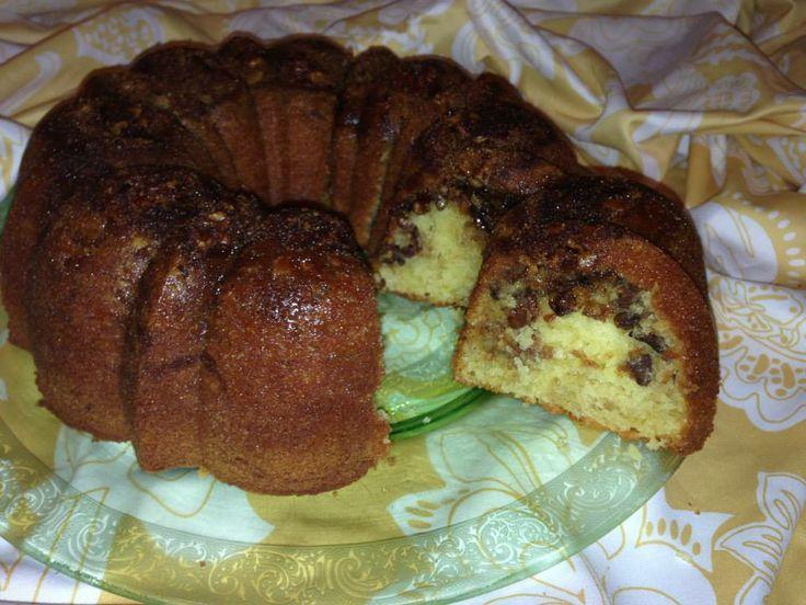 yellow cake mix sour cream
