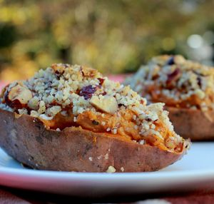 Twice Baked Bourbon Pecan Sweet Potatoes...absolutely to die for