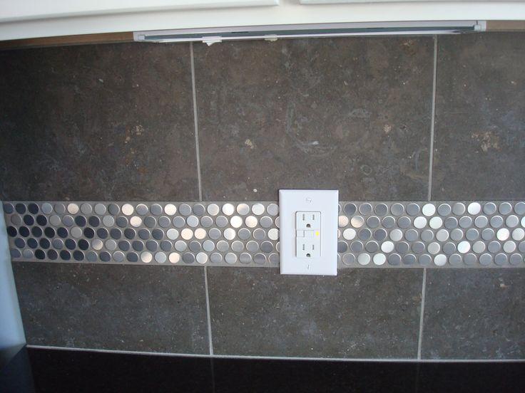 Penny tile backsplash casa de cavalluzzi pinterest - Penny tile backsplash images ...