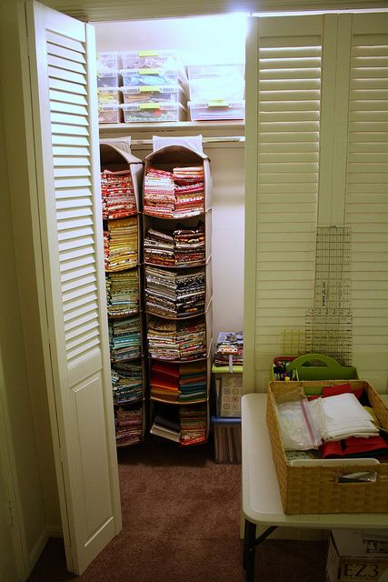 fabric storage- need more of these for yarn AND fabric!